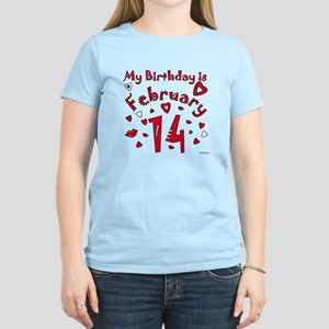 Valentine Feb. 14th Birthday Women's Light T-Shirt