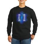 Star of David Commandments Long Sleeve Dark T-Shir