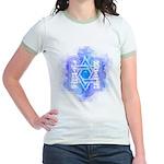 Star of David Commandments Jr. Ringer T-Shirt