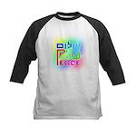 Three Peace Kids Baseball Jersey