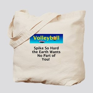 Volleyball Spike Tote Bag