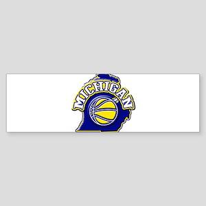 Michigan Basketball Bumper Sticker