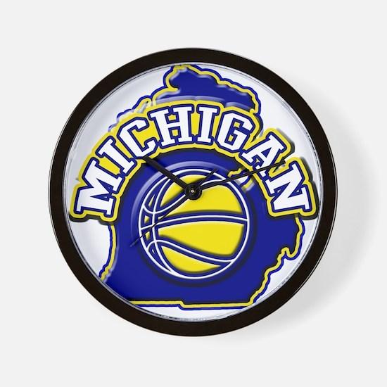 Michigan Basketball Wall Clock