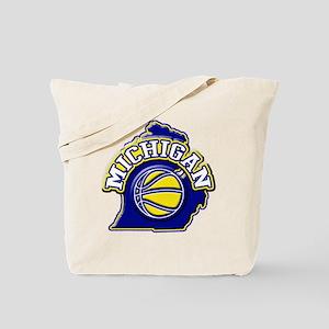 Michigan Basketball Tote Bag