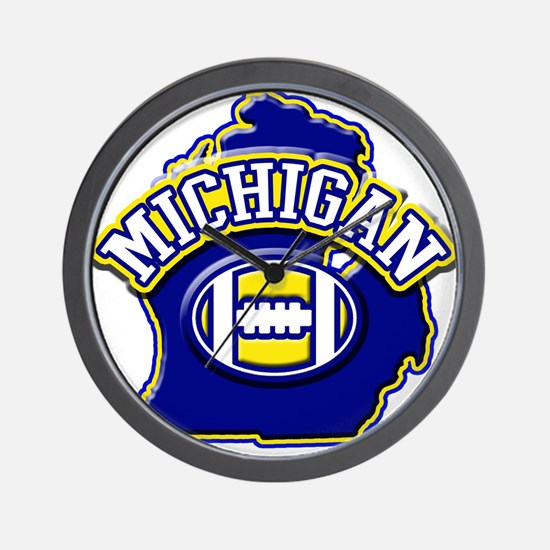 Michigan Football Wall Clock