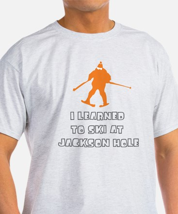 I Learned to ski at Jackson H T-Shirt