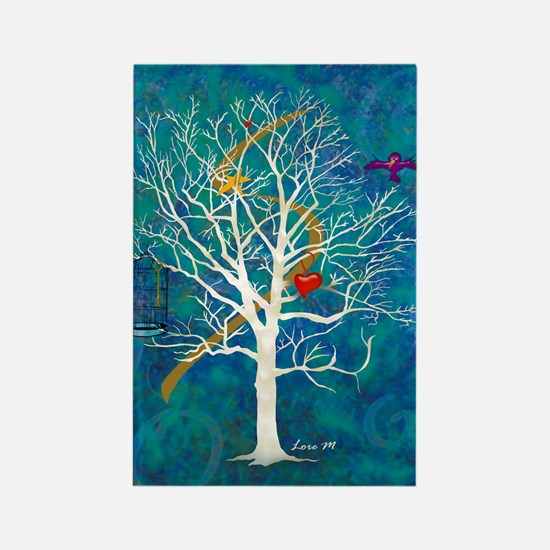 """""""Tree for dreaming"""" Rectangle Magnet"""
