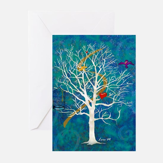 """Tree for dreaming"" Greeting Cards (Pk o"