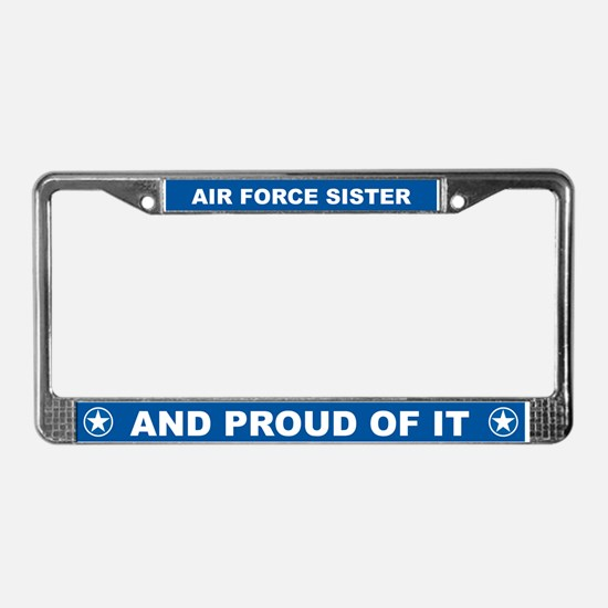Air Force Sister License Plate Frame