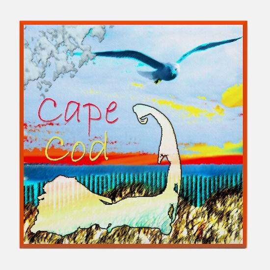 Cape Cod Gull Tile Coaster