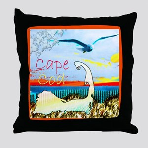 Cape Cod Gull Throw Pillow