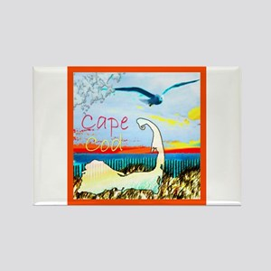 Cape Cod Gull Rectangle Magnet