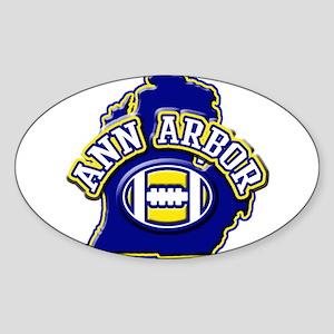 Ann Arbor Football Oval Sticker