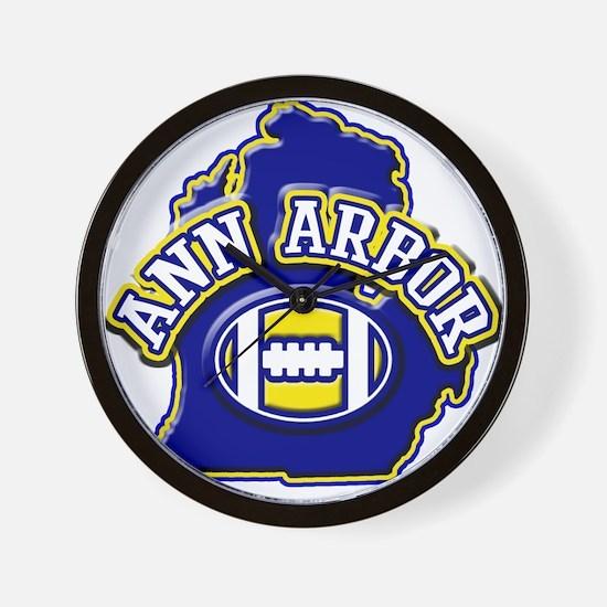 Ann Arbor Football Wall Clock