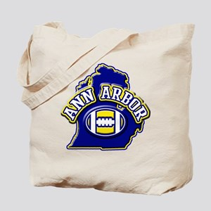 Ann Arbor Football Tote Bag