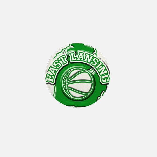 East Lansing Basketball Mini Button