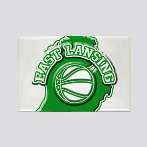 East Lansing Basketball Rectangle Magnet