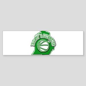 East Lansing Basketball Bumper Sticker