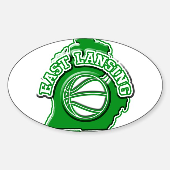 East Lansing Basketball Oval Decal