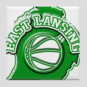 East Lansing Basketball Tile Coaster