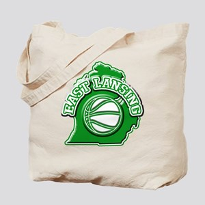East Lansing Basketball Tote Bag