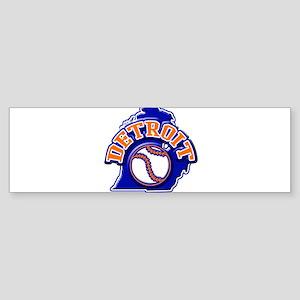 Detroit Baseball Bumper Sticker