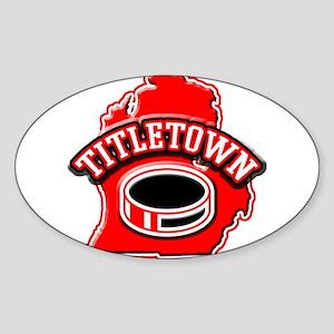 Titletown Hockey Oval Sticker