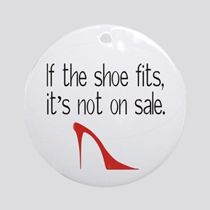 Shoe Fits Ornament (Round)