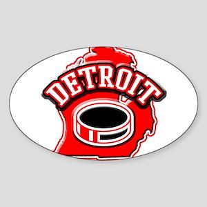 Detroit Football Oval Sticker