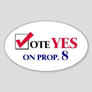 Vote YES on Prop 8 Oval Sticker