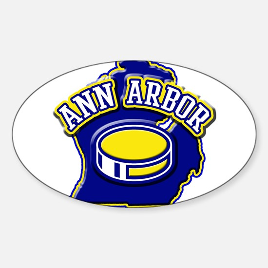 Ann Arbor Hockey Oval Decal