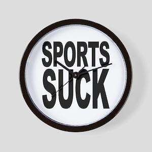 Sports Suck Wall Clock