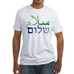 Shalom Salaam Fitted T-Shirt