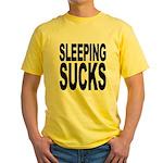 Sleeping Sucks Yellow T-Shirt