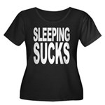 Sleeping Sucks Women's Plus Size Scoop Neck Dark T