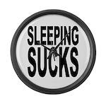 Sleeping Sucks Large Wall Clock