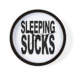 Sleeping Sucks Wall Clock