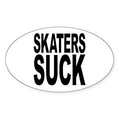 Skaters Suck Oval Sticker (10 pk)