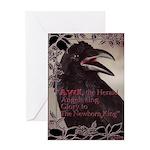 Raven Christmas - Greeting Card