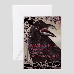 Raven Christmas Card