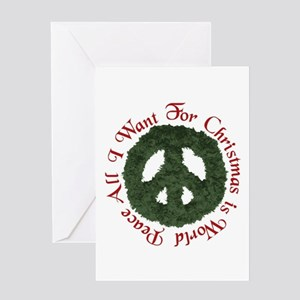 World peace greeting cards cafepress christmas world peace greeting card m4hsunfo
