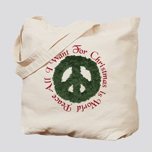 Christmas World Peace Tote Bag