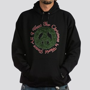 Christmas World Peace Hoodie (dark)