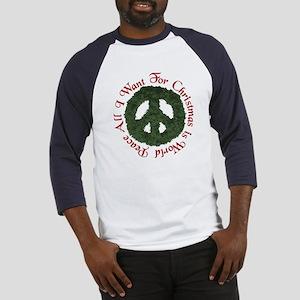 Christmas World Peace Baseball Jersey
