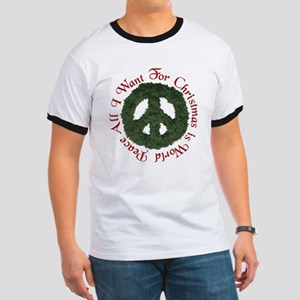 Christmas World Peace Ringer T