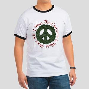 Christmas World Peace Ringer T
