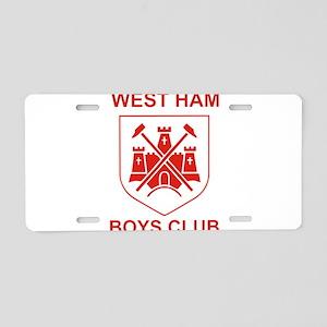 West Ham Boys Club Aluminum License Plate