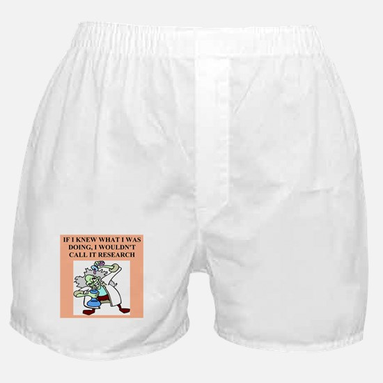 funny geek & professor Boxer Shorts
