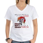 Devil with a Hammer Women's V-Neck T-Shirt