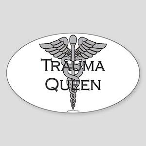 Trauma Queen, ER Nurse Oval Sticker